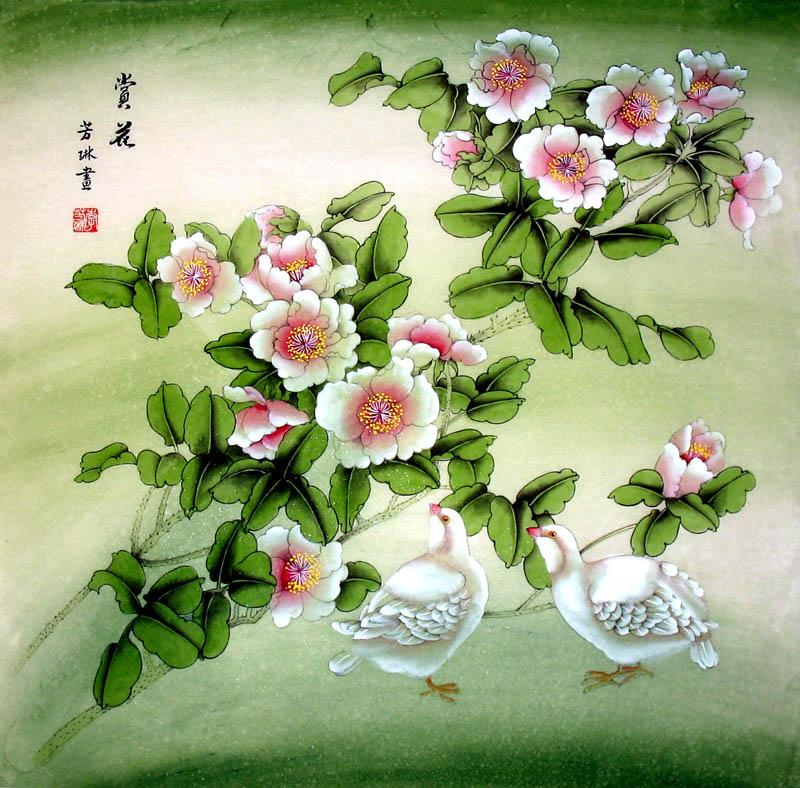 chinese flower painting  artisoo, buy handpainted oil, Natural flower