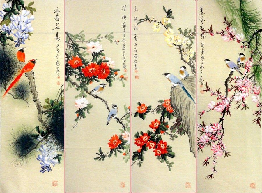 японские китайские птицы картинки том