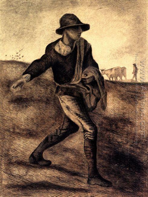 A Sower (after Millet)