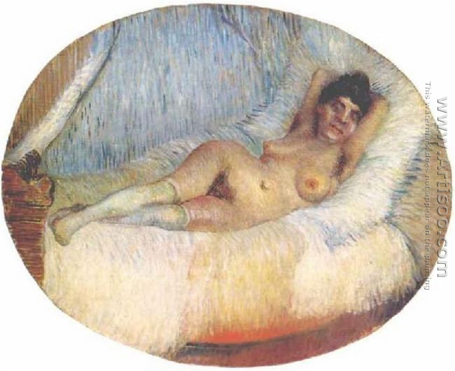 Nude Woman On A Bed