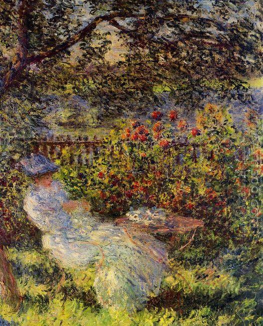 Alice Hoschede In The Garden
