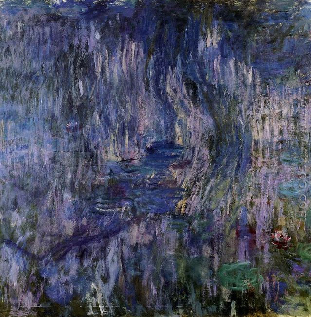 Water-Lilies, Reflection of a Weeping Willow