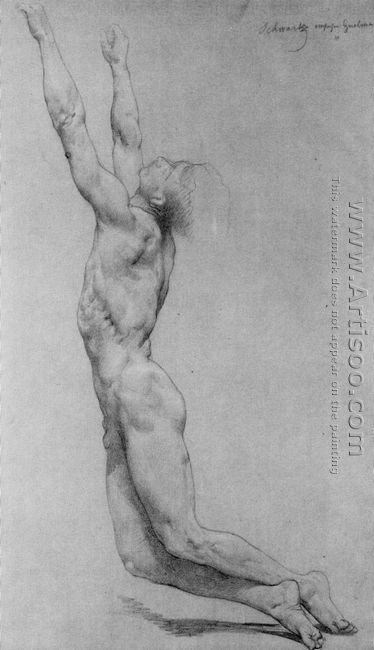 Flagellation Of Christ Study In Pencil