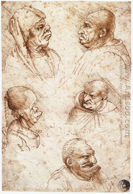 Five Caricature Heads