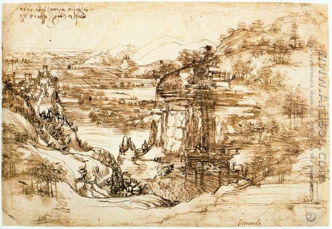 Landscape drawing for Santa Maria della Neve on 5th August 1473