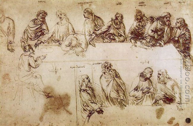Study for the Composition of the Last Supper