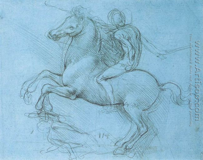 Study for the Sforza monument 1488-89