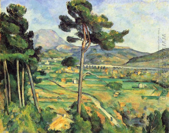 Landscape With Viaduct Mont Sainte Victoire