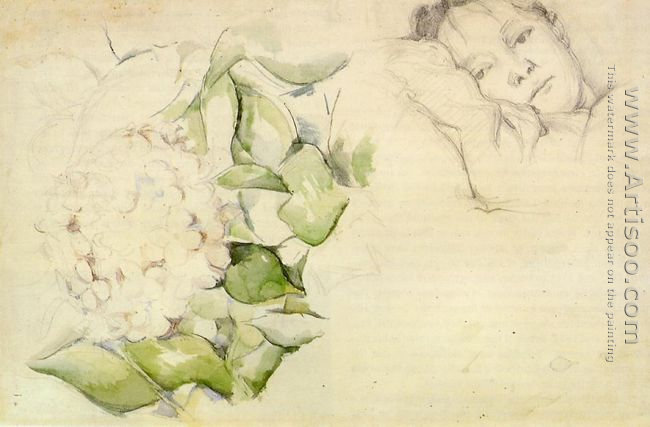 Madame Cezanne (Hortense Fiquet) With Hortensias