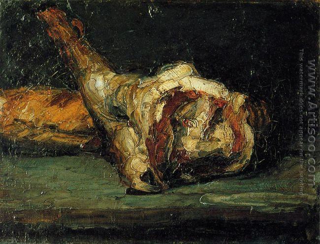 Still Life Bread And Leg Of Lamb