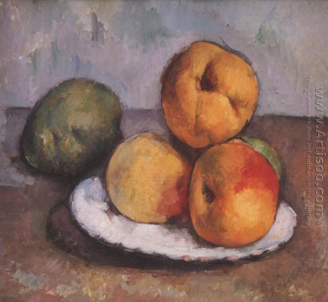 Still Life With Quince Apples And Pears 1885 87