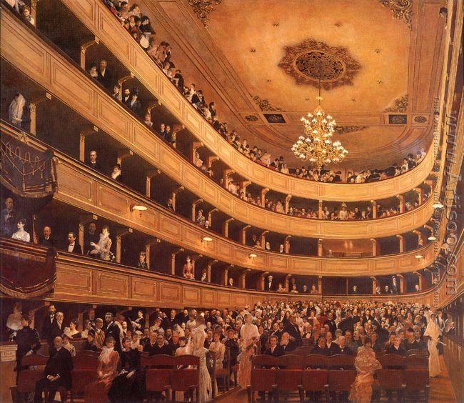 Auditorium in the Old Burgtheater, Vienna