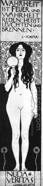 Drawing for Two Emblems for Ver Sacrum (Nuda Veritas) 1898