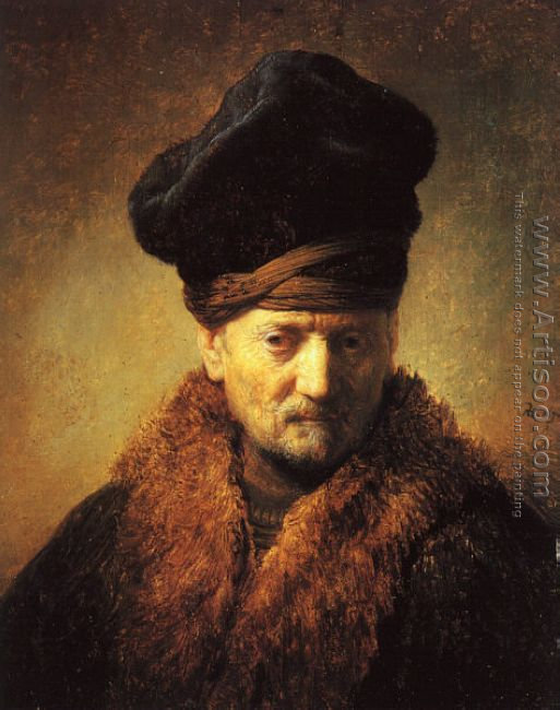 Bust of an Old Man in a Fur Cap 1630