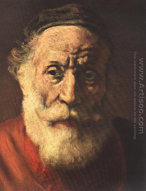 Portrait of an Old Man in Red (detail -1) 1652-54