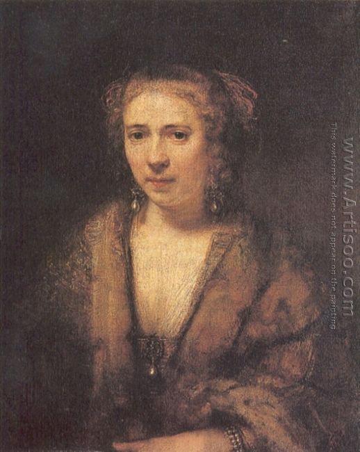 Portrait of Hendrickje Stoffels