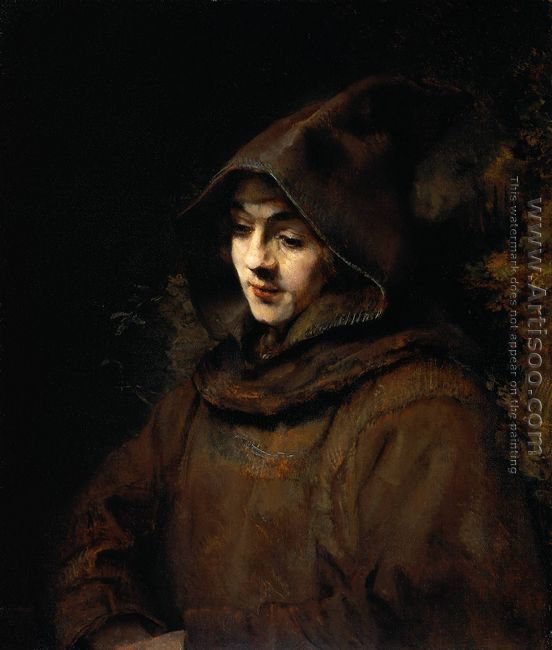 Titus van Rijn in a Monk's Habit