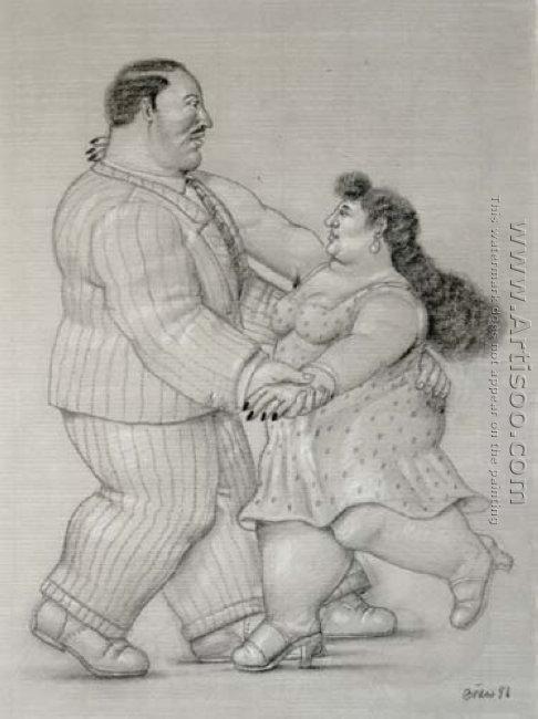 Couple Dancing Pareja Bailando II