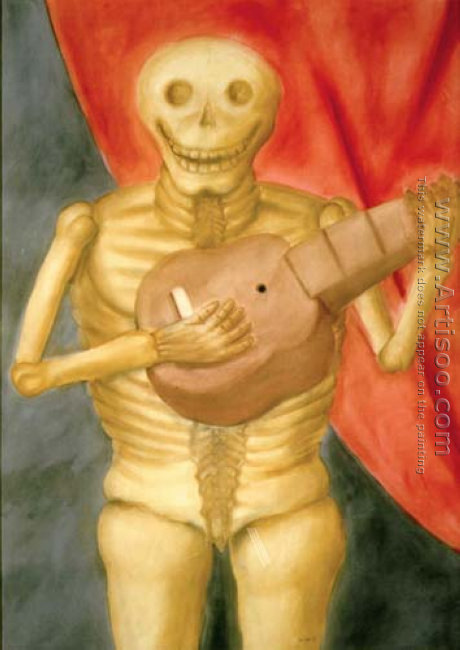 Dead Playing Guitar La Muerte Tocando Guitarra