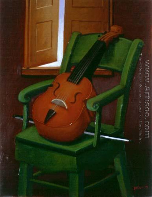 Violin On A Chair