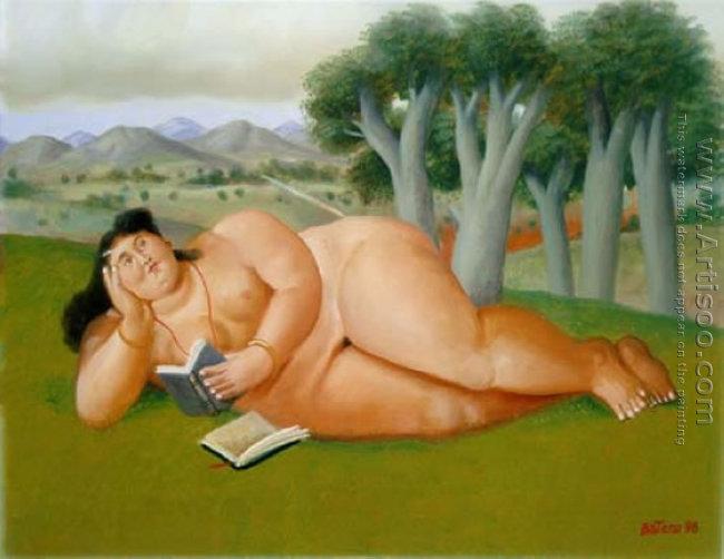 В библиотеке голая тетка