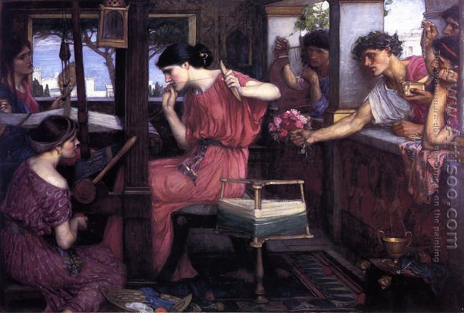 Penelope and the Suitors 1912