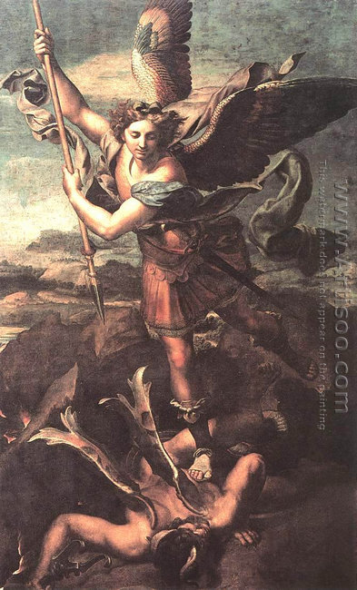 Saint Michael Trampling the Dragon 1518