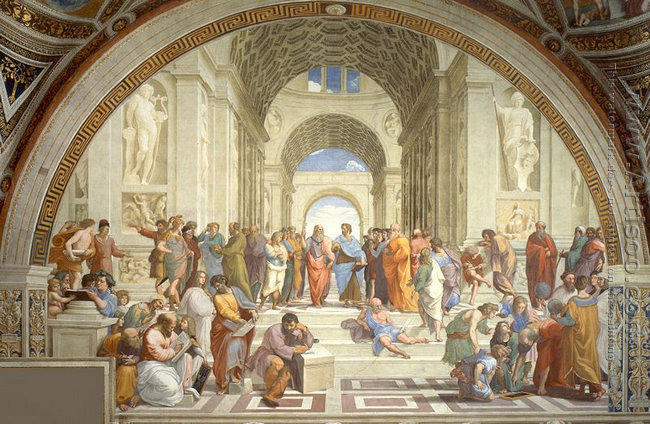 The School of Athens (from the Stanza della Segnatura) 1510-11