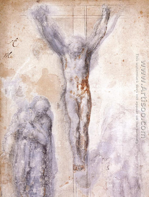 Christ Crucified between the Virgin and Nicodemus c. 1552-54