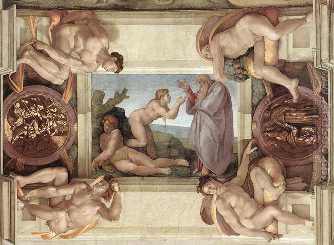 Creation of Eve (with ignudi and medallions) 1509-10