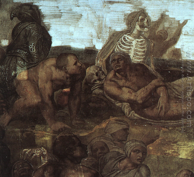 Last Judgement (detail of the Resurrection of the Dead) 1536-41