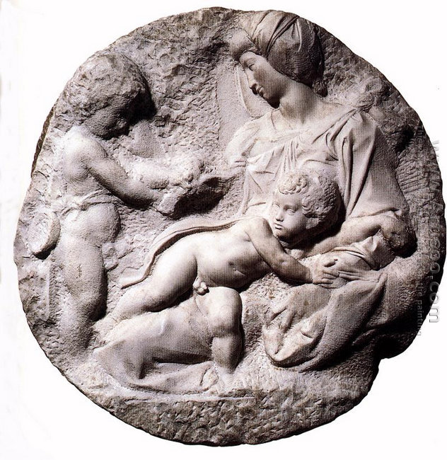 Madonna and Child with the Infant Baptist (or Taddei Tondo)