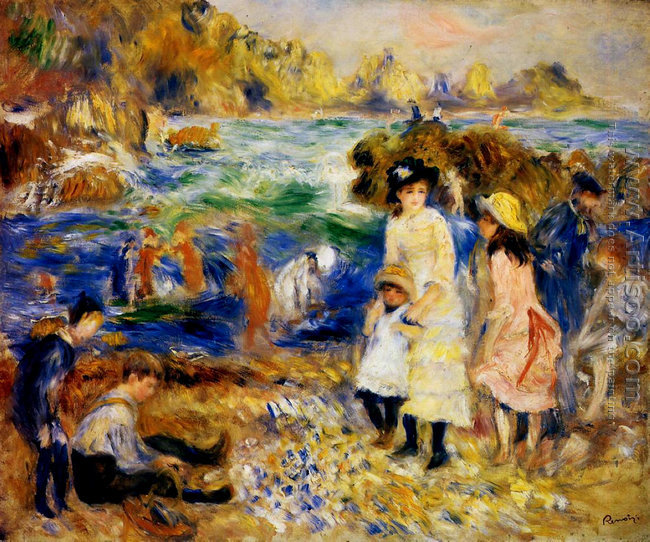 Children By The Sea In Guernsey