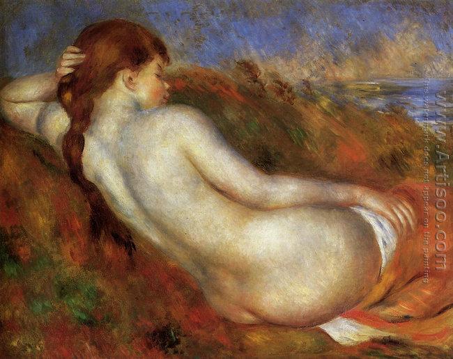 Reclining Nude (Pierre Auguste Renoir 1883)