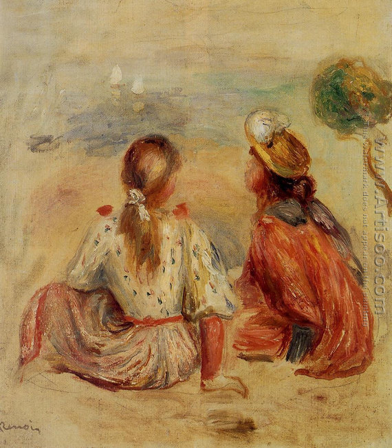 Young Girls On The Beach