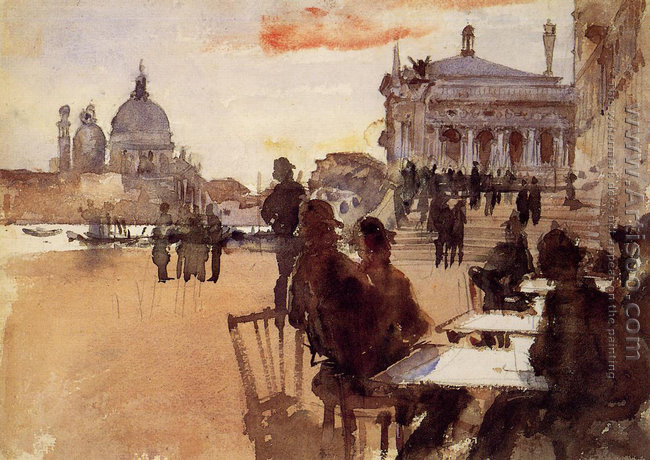Cafe on the Riva degli Schiavoni