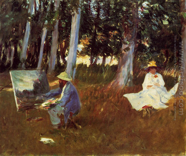 Claude Monet Painting by the Edge of a Wood