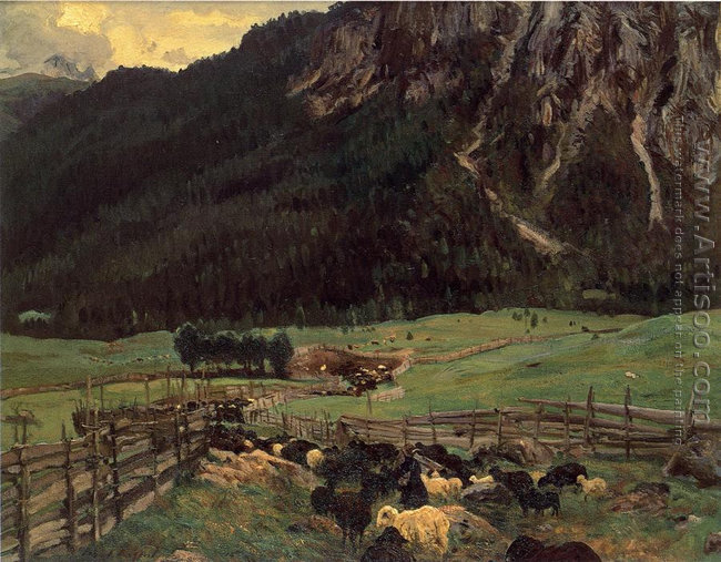 Sheepfold In The Tirol