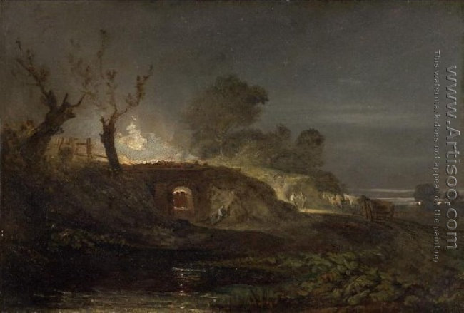 A Lime Kiln at Coalbrookdale, c.1797