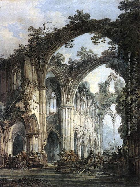 Inside of Tintern Abbey