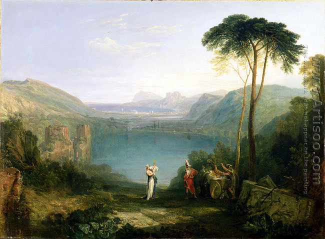 Lake Avernus Aeneas and the Cumaean Sibyl, c.1814-5