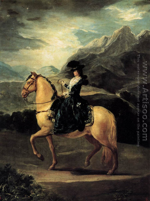 Portrait Of Maria Teresa De Vallabriga On Horseback