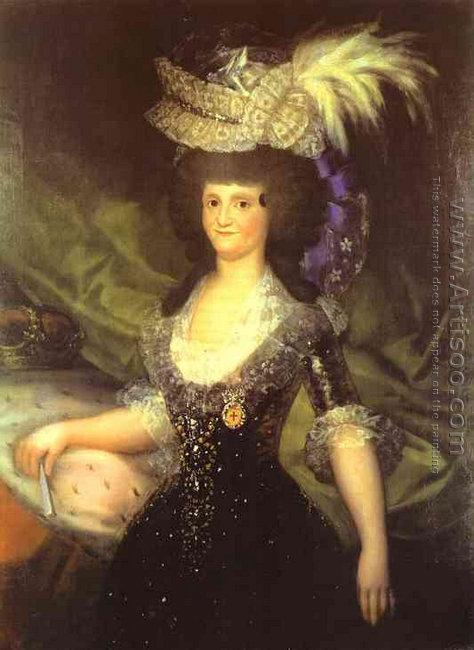 The queen Maria Luisa