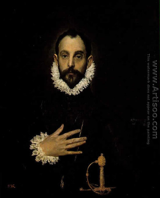 Nobleman with his Hand on his Chest 1583-85