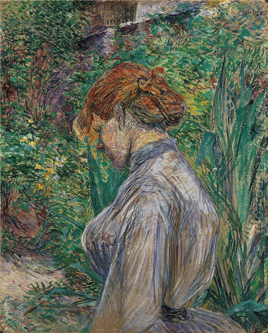 Red Headed Woman In The Garden Of Monsieur Foret