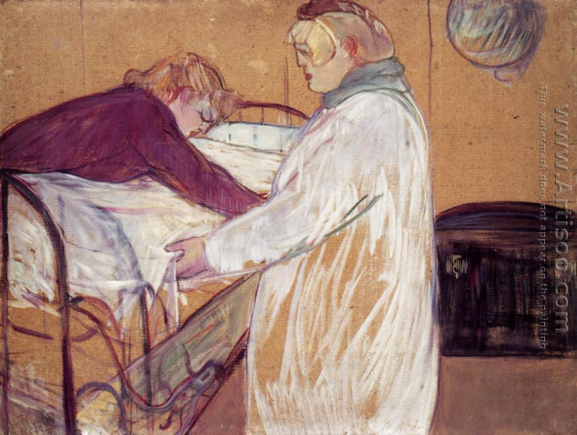 Two Women Making the Bed