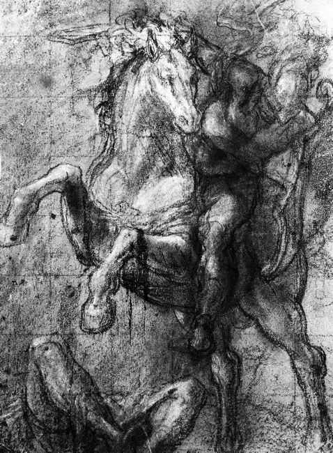 Cavalier over a fallen adversary