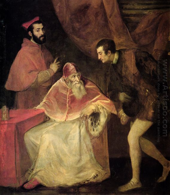 Pope Paul III with his Grandsons Alessandro and Ottavio Farnese