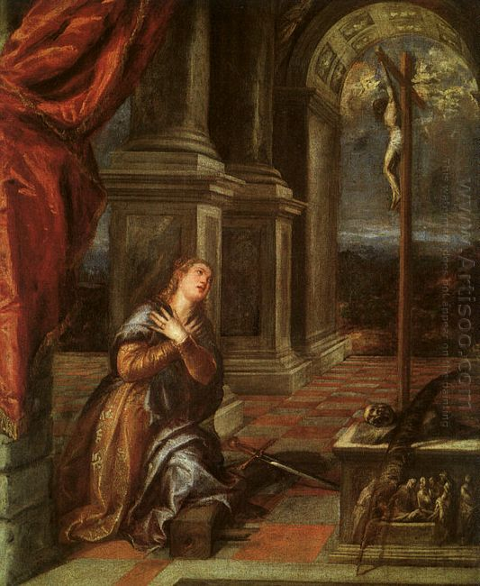 St. Catherine of Alexandria at Prayer 1567-68