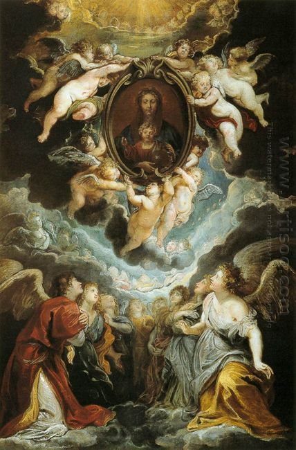 Madonna Adored by Angels (Madonna della Vallicella) 1608